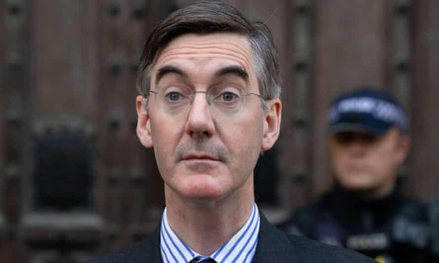 Jacob Rees-Mogg outside the Houses of Parliament.
