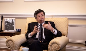 Japan's ambassador to the UK, Koji Tsuruoka, in his office. Japanese firms in the UK are holding back on investment until the trade and business outcomes of Brexit become clear.