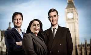 Nick Clegg, Naz Shah and Jacob Rees-Mogg