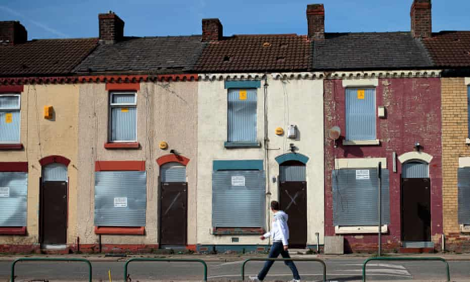 Derelict houses round Anfield