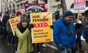 Last year thousands of higher and further education staff and students protested in the snow against cuts to pensions.