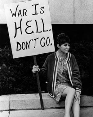 An anti-Vietnam war protester in San Francisco, 1968