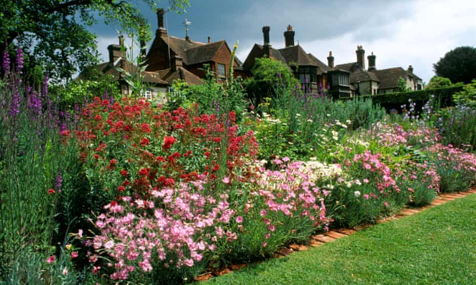 The gardens at Gilbert White's house in Selbourne, Hampshire.