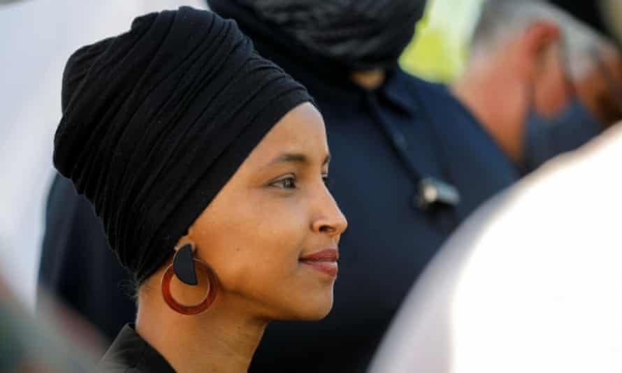 Nancy Pelosi, the House speaker, has criticized Ilhan Omar, pictured.