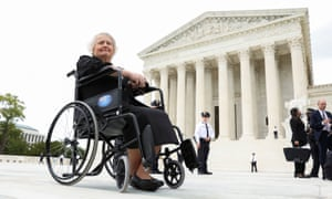 Aimee Stephens outside the US supreme court in Washington in October.