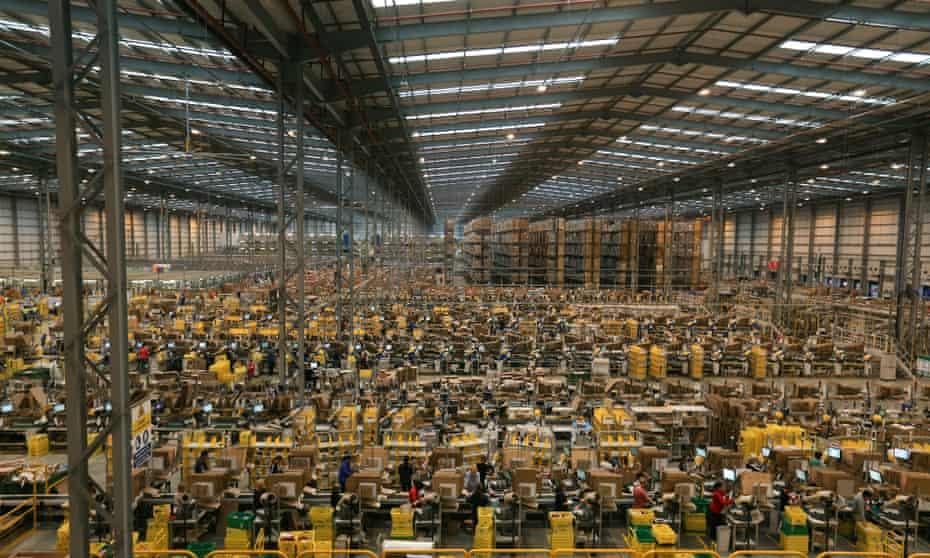 An Amazon warehouse in Peterborough.
