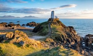 The lighthouse on Llanddwyn Island.