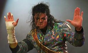 Michael Jackson performing in 1992.