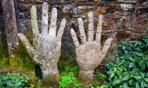 Hands of a Giant sculpture in Edward James's surreal garden of Las Pozas, Mexico.