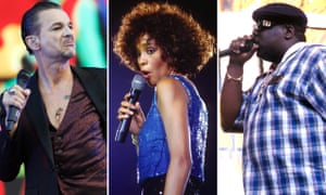 Hall pass ... Dave Gahan of Depeche Mode, Whitney Houston, and Notorious BIG.