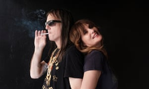 Anton Newcombe and Emmanuelle Seigner, the duo behind L'Épée.