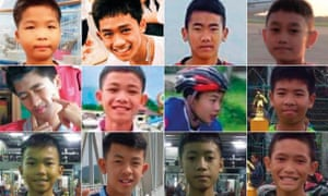 The 12 boys and their football coach were trapped in a cave in northern Thailand for more than two weeks.