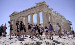 The Acropolis with tourists