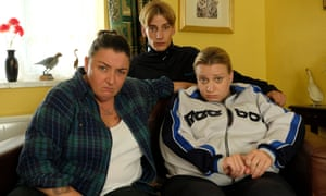 Ashley McGuire, Charlie Cooper and Daisy May Cooper in This Country, BBC One.