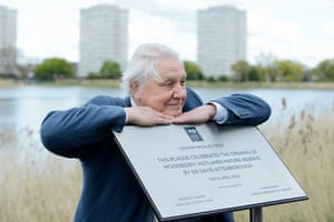 Sir David Attenborough opens Woodberry Wetlands, the UK's newest nature reserve in east London