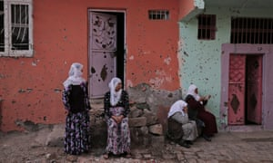A bullet-ridden house damaged during a police operation to arrest militants in Diyarbakir, in Turkey's predominantly Kurdish southeast.