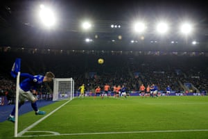James Maddison of Leicester City takes a corner as The Foxes beat Everton 2-1 at The King Power Stadium.