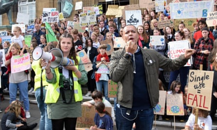 Clive Lewis at a school climate strike, Norwich, 20 September 2019: 'We need an army of activists who think critically, treat each other with respect and have a serious democratic stake in the movement.'