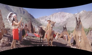 The Blu-ray version of How the West Was Won uses a 'SmileBox' presentation to reproduce the original curved-screen look of the 1962 film's Cinerama presentation.