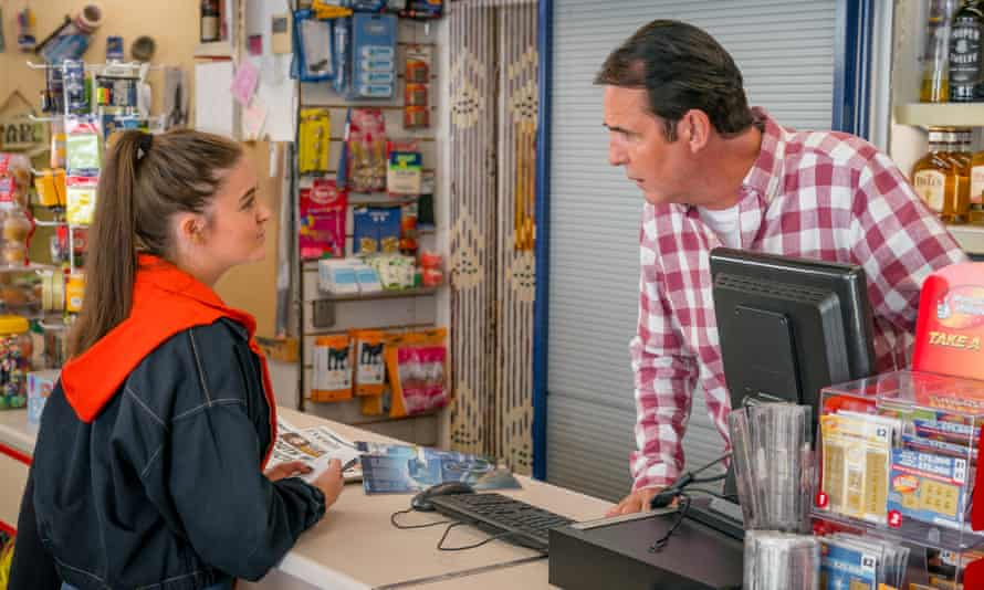 Katherine Rose Morley and Neil Morrissey in The Syndicate.