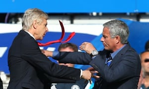 Arsène Wenger and José Mourinho square up in 2014.