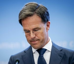 The Dutch PM during a press conference about the current state of affairs in the country regarding coronavirus, in The Hague.