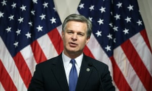 Christopher Wray's leadership of the FBI was praised by Donald Trump in a tweet.