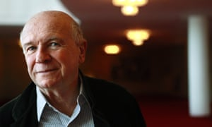 Terrence McNally poses at the Kennedy Center in Washington.