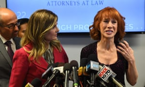 Kathy Griffin said at the press conference: 'A sitting president of the United States and his grown children and the first lady are personally, I feel, trying to ruin my life forever.'