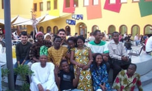 Chigozie Obioma and other Nigerian students in 2007