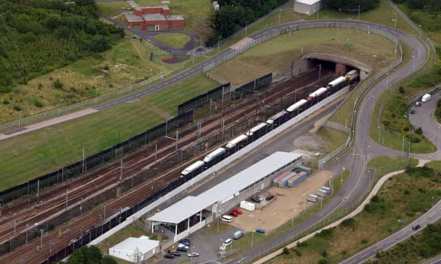 The Eurotunnel site in Folkestone, Kent