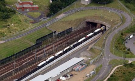 Eurotunnel entrance in Folkestone, Kent
