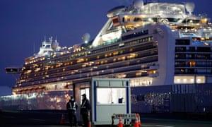 The Diamond Princess cruise ship at Yokohama