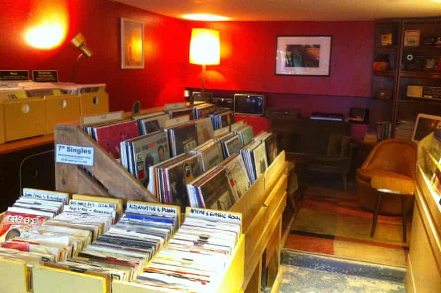 Jam vinyl and coffee store in Falmouth.