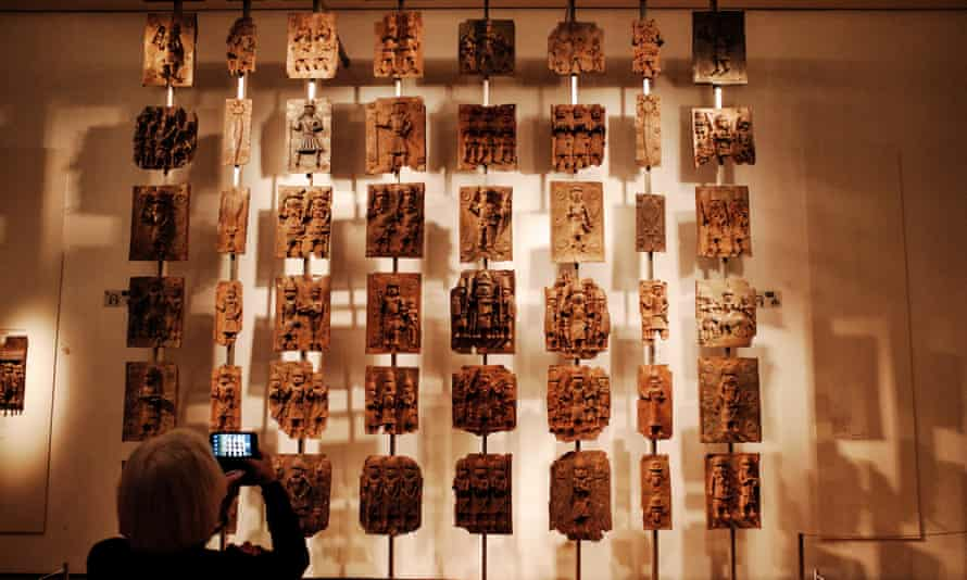 Looted … the Benin bronzes at London's British Museum.