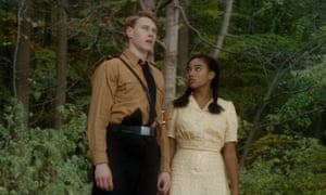 Perilously close to the bad-taste border … George MacKay and Amandla Stenberg in Where Hands Touch.