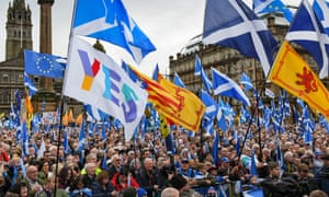 Scottish independence rally in Glasgow in November 2019.