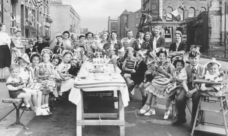 A London street party in 1953 celebrating the Queen's coronation.
