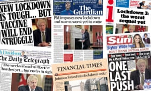 Front pages of the UK papers on Tuesday 5 Jan 2021