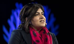 Lady Warsi, Conservative party politician, at the Hay literary festival.