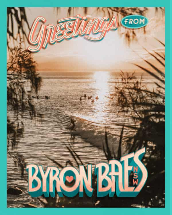 Promotional postcard for reality TV series Byron Baes