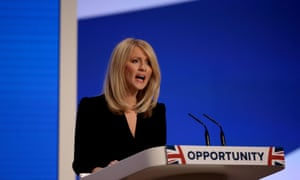 Esther McVey speaks speaks to the conference.