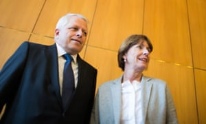 Cologne's chief of police Juergen Mathies and mayor Henriette Reker announce the city's security plans for New Year's Eve 2016.