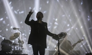 Radiohead play the Pyramid stage.