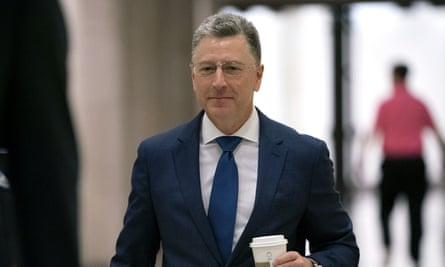 Kurt Volker, a former special envoy to Ukraine, arrives for a closed-door interview with House of Representatives investigators, at the Capitol in Washington on Thursday.