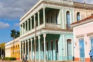 Colonial house in Remedios, Santa Clara Province, Cuba