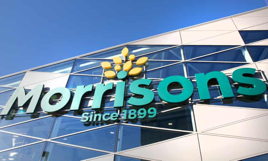 A Morrisons sign on a store