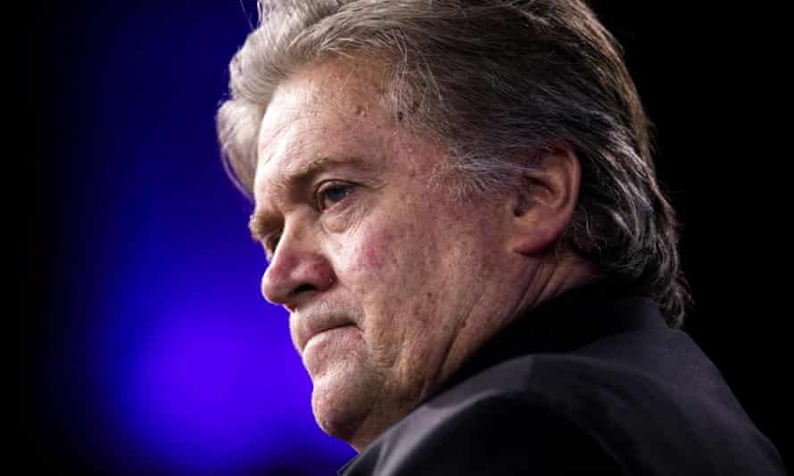 Steve Bannon at the Conservative Political Action Conference in February 2017.