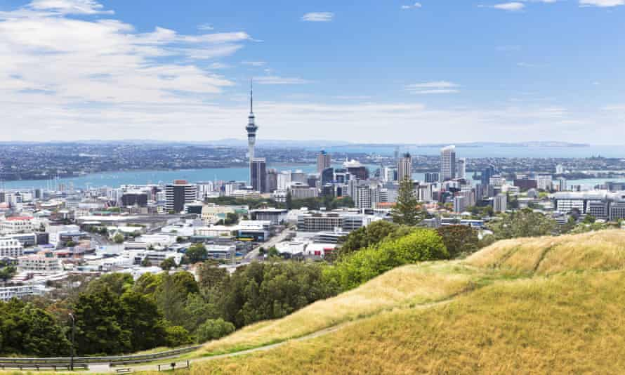 The view from Mount Eden, Auckland, the highest ranking English-speaking city in the survey.