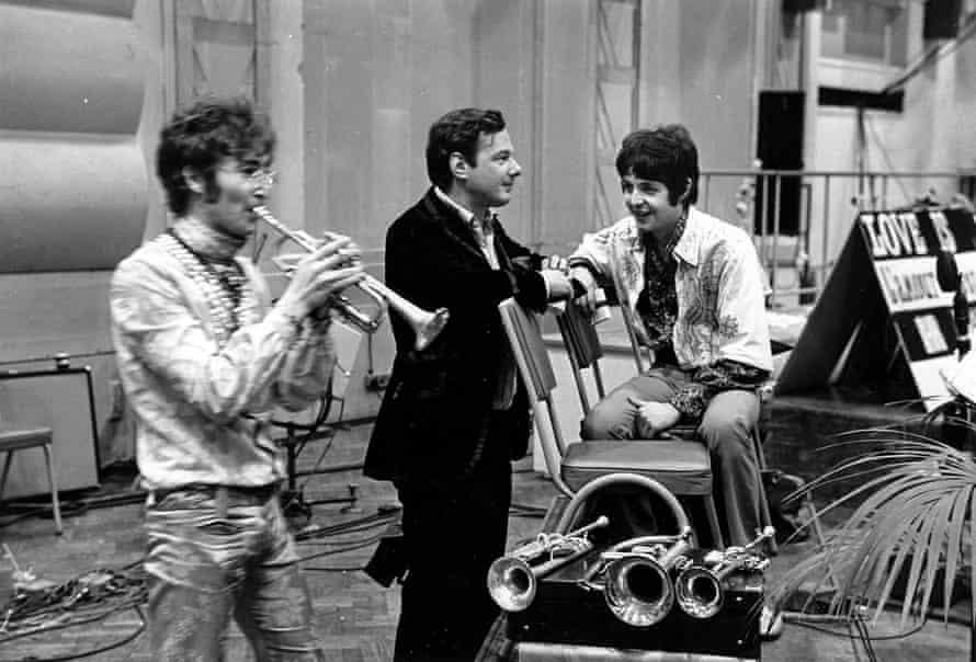 John Lennon, Brian Epstein and Paul McCartney in June 1967.